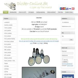 Dioder-Online.dk - Danmarks største udvalg i lysdioder og tilbehør til Danmarks bedste priser.