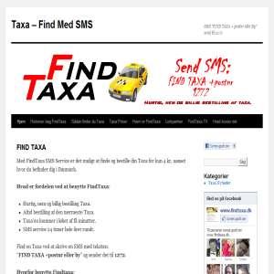 FindTaxa.dk - Bestil din taxa med sms