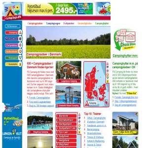 Søgeportal til Campingpladser m.m. i Danmark