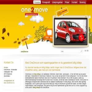 One2Move biludlejning  almindelige biler til ualmindeligt lave priser