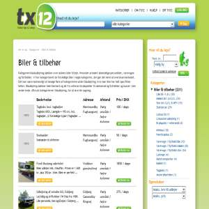 tx12 biludlejning