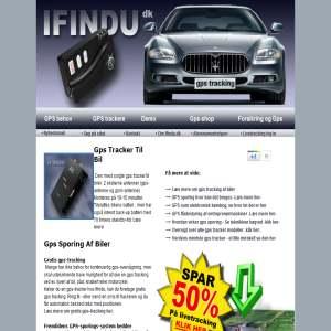 ifindu.dk - GPS tracker til sporing af bilen