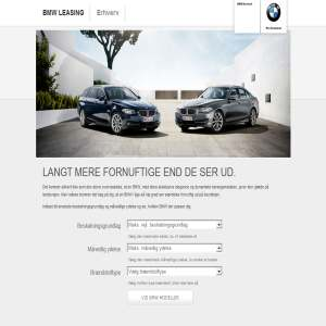 BMW firmabil - Erhvervsleasing Beregner