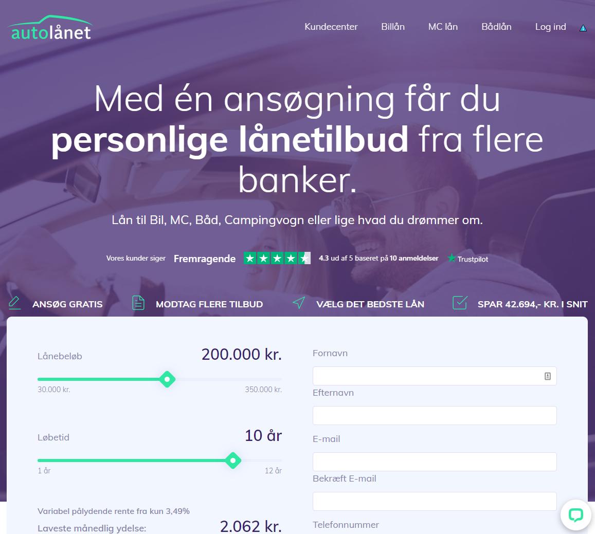 Bilfinansiering - Autolånet.dk
