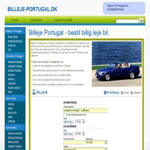 Billeje Portugal - lej bil i hele Portugal