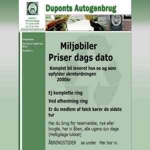 Duponts Autogenbrug, tjen på ophug af auto
