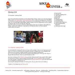 Polering af bil - Køge Pava Center