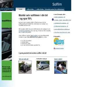 Solfilm til biler - monter selv og prisen halveres
